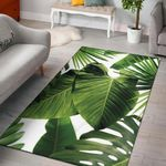 Green Tropical Palm Leaves 3D Printed Area Rug Home Decor