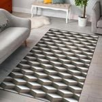 Cube Optical Illusion 3D Printed Area Rug Home Decor
