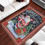 Merry Christmas Santa Claus 3D Printed Area Rug Home Decor