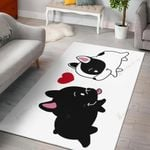Duke Dog Lover Black And White Heart  Area Rug Home Decor