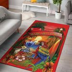 Margaritaville Parrot Red Beach 3D Grapic Design Area Rug Home Decor