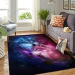 Love Of Wolf Galaxy 3D Grapic Design Area Rug Home Decor