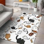 Cute Cat Pattern 3D Printed Area Rug Home Decor