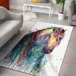 Horse Water Colourful 3D Grapic Design Area Rug Home Decor