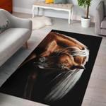 Horse Brown 3D Grapic Design Area Rug Home Decor