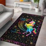 Unicorn Colourful My Eyes Have Never Seen 3D Grapic Design Area Rug Home Decor