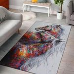 Horse Water Colorful Graphic Design Area Rug Home Decor