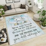 Elephants You Are Loved For The Boy Area Rug Home Decor