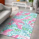 Lobstah Roll Lilly Pulitzer 3D Printed Area Rug Home Decor