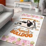 Anatomy Of A French Bulldog  Area Rug Home Decor Gift For Dog Lover