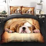 Cute Sleeping Australian Bulldog Lovely Puppy  Bedding Set Bedroom Decor