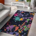 Colorful Paint Drip Abstract 3D Print Design Area Rug Home Decor