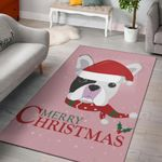 Stella Lover Dog Pink Merry Christmas Area Rug Home Decor
