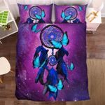 Blue Dreamcatcher And Butterfly  Bedding Set Bedroom Decor