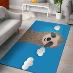 Sloth Blue Sky Cloud 3D Graphic Design Area Rug Home Decor