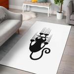 Black Cat 3D Grapic Design Area Rug Home Decor