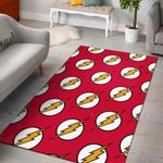 The Flash Symbol Pattern 3D Printed Area Rug Home Decor