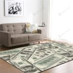 One Hundred Dollar Bill Print 3D Grapic Design Area Rug Home Decor