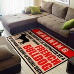 Warning This Property Is Protected By A Highly Trained French Bulldog  Area Rug Home Decor