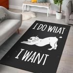I Do What I Want Harvey Dog  Area Rug Home Decor Gift For Dog Lover