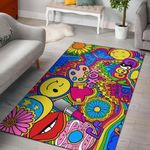 Colours Good Vibes 3D Printed Area Rug Home Decor