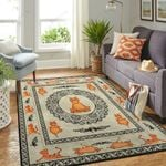 Cat Yoga Pattern 3D Printed Area Rug Home Decor