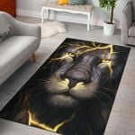 Tiger And Light Pattern 3D Printed Area Rug Home Decor
