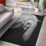 Horse Back And White 3D Grapic Design Area Rug Home Decor