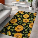 Sunflower Pattern 3D Printed Area Rug Home Decor