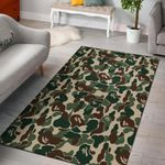 Green Camo Camouflage 3D Printed Area Rug Home Decor