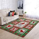 Red Cardinal I Am Always With You 3D Grapic Design Area Rug Home Decor