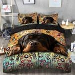 Beautiful Imagine Art Print Face Of Rottweiler  Bedding Set Bedroom Decor