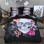 3D Skeleton Black Skull Bedding Set Bedroom Decor