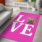 Shadow Love  Area Rug Home Decor Gift For Dog Lover