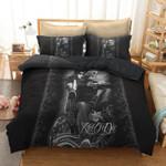 Black Motorbike Motorcycle Skull Printed Bedding Set Bedroom Decor