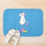 Funny Colorful Unicorn Flying Blue Background 3D Printed Doormat For Home Decor