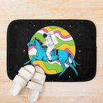 An Astronaut Riding Horse In The Space 3D Printed Doormat For Home Decor