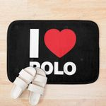 I Love Polo Black Background 3D Printed Doormat For Home Decor