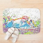 The Colorful Horse is Lying Oil Painting 3D Printed Doormat For Home Decor