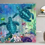 Sea Turtle Ocean Creature Landscape Shower Curtain Home Decor