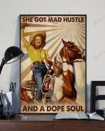 She Got Mad Hustle And A Dope Soul A Girl Riding Horse Vintage Poster