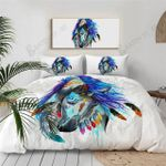Colorful Native American Horse Watercolor Painting Printed Bedding Set Bedroom Decor