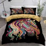 Colorful Horse Abstract Painting Art Printed Bedding Set Bedroom Decor