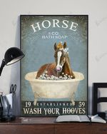 Horse Bath Soap Wash Your Hooves Funny And Vintage Poster