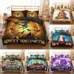Happy Halloween Background Printed Bedding Set Bedroom Decor
