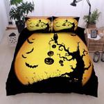 Halloween Pumpkin Tree Printed Bedding Set Bedroom Decor