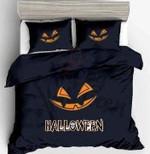 Scary Halloween Pumpkin Printed Bedding Set Bedroom Decor