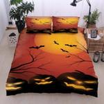 Moon Halloween Printed Bedding Set Bedroom Decor
