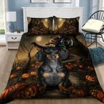 Halloween With Dachshund Printed Bedding Set Bedroom Decor