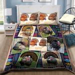 Thanksgiving Peacock Printed Bedding Set Bedroom Decor